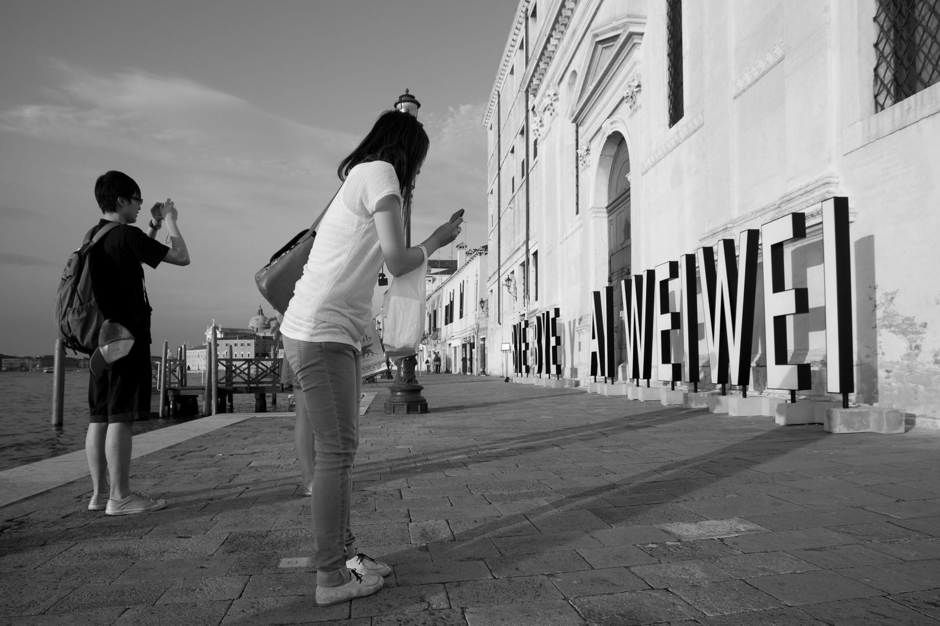 Byebye Ai Weiwei installazione1
