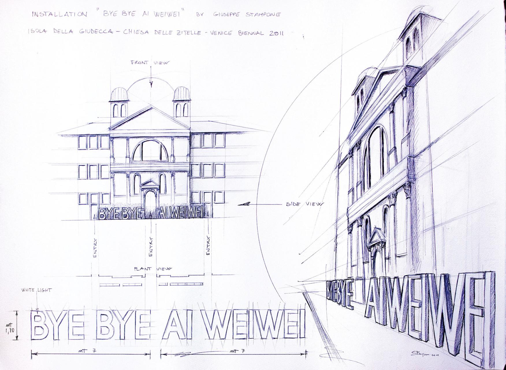 Byebye Ai Weiwei tavola_bassa