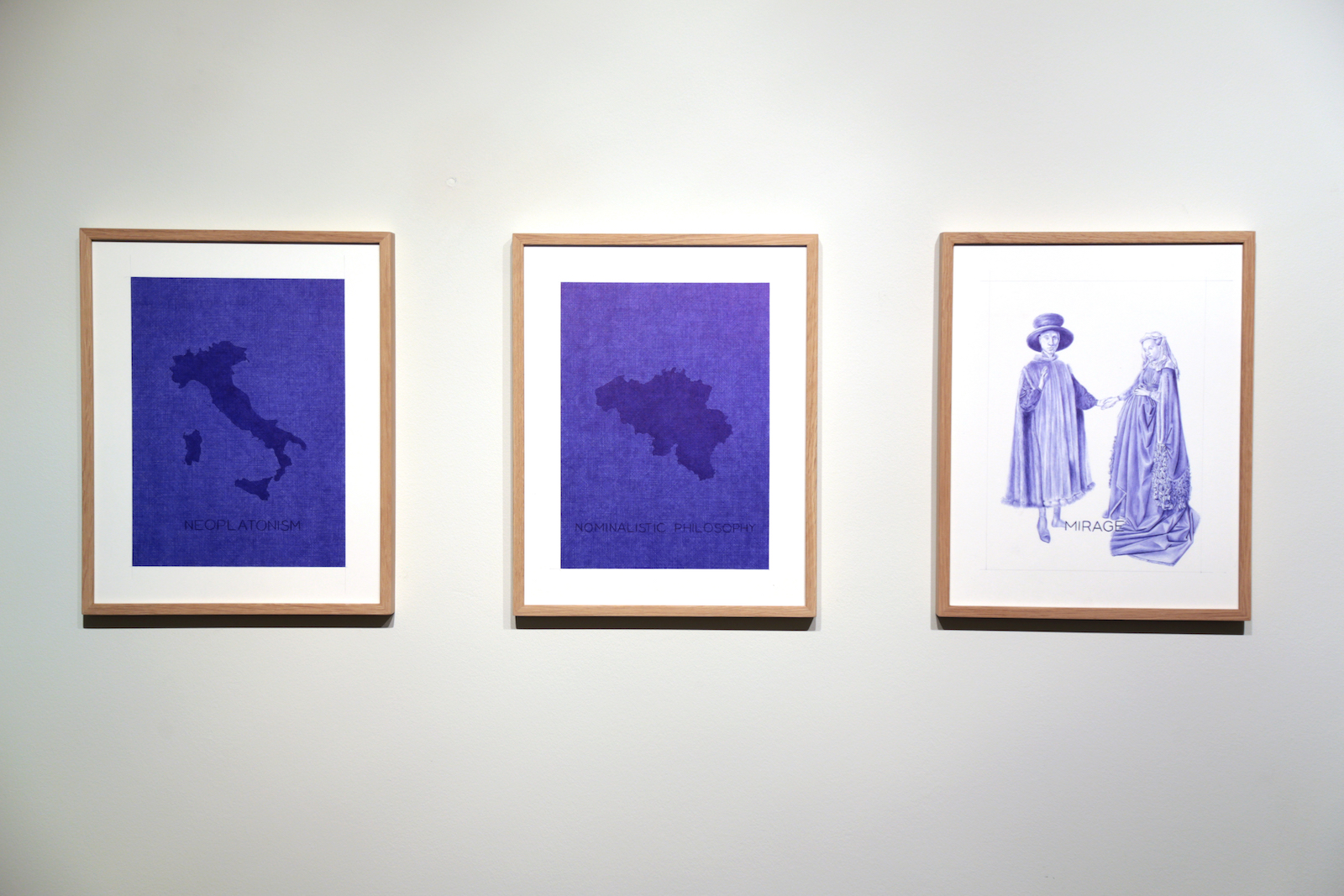 Tentative Ecouchee d'une peinture utopiste, 2016; 10 drawings bic pen on paper (particular)